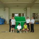 石巻の中学の校長先生とテニス顧問の先生